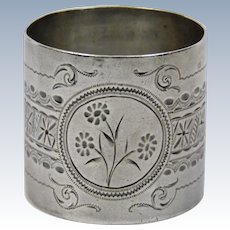 Sterling Silver Large Napkin Ring Gorham Company Aesthetic Style