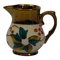 Wade England Pottery Harvest Ware Miniature Creamer Pitcher Copper Luster Trim
