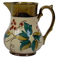 Wade England Pottery Harvest Ware Creamer Pitcher Copper Luster