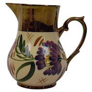 Wade England Pottery Harvest Ware Pitcher Copper Luster