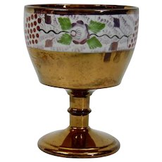 Copper Luster Chalice Cup English Victorian