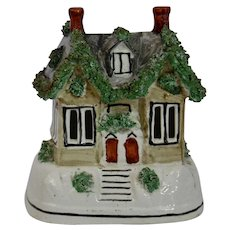 Staffordshire Pottery Pastille Burner Cottage House