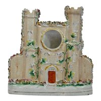 Staffordshire Pottery Castle Flat Back Watch Holder