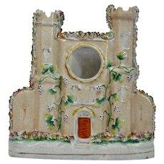 Staffordshire Pottery Castle Flat Back Watch Holder