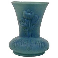 Van Briggle Pottery Anemone Vase Ming Blue Glaze