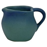 Van Briggle Pottery Creamer Pitcher Heart Shape Ming Blue Glaze