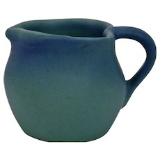 Van Briggle Pottery Creamer Pitcher Heart Shape Ming Blue Glaze