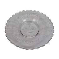 Coronation Memorabilia King George VI Flint Glass Deep Plate Bowl May 12 1937