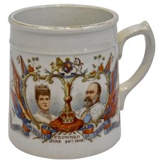 Coronation Memorabilia King Edward VII Queen Alexandra Mug Cup Crowned 1902