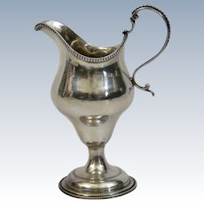 Georgian Sterling Silver Creamer Pitcher George Cowles London England c.1786
