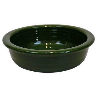 Fiesta Ware Bowl Original Forest Dark Green Color
