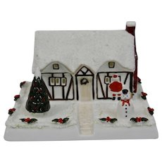 Coalport Cottage Series Christmas Cottage Fine Bone China England