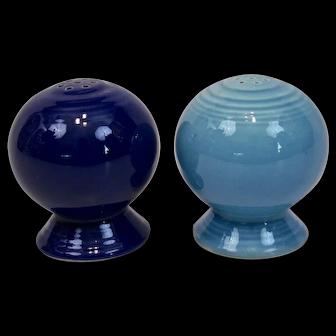 Fiesta Ware Salt Pepper Shakers Original Cobalt Blue Light Blue
