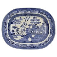 Blue Willow Transfer ware Ironstone Platter Podmore Walker & Co. England