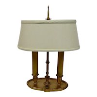 Bouillotte Table Lamp French Style Oval Base Double Candle with Shade