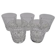 Baccarat Crystal Highball Glasses Armagnac Pattern Set Of 5