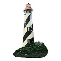 Saint Augustine Florida Lighthouse Hand Painted Metal Wall Hanging