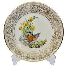 Lenox China Plate 1977 Robin Adapted From Art By Edward Marshall Boehm
