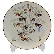 A Family Tree Plate Norman Rockwell Gorham Fine China Adapted From Artwork By The Artist