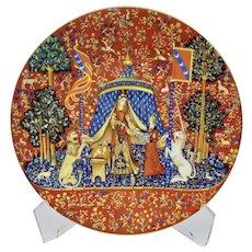 "Lady And The Unicorn ""La Dame A La Licorne"" Fine China Plate Haviland Limoges France"