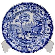 Wedgwood Wild Rose Border Blue Transfer Ware Side Plate Landscape Scene England