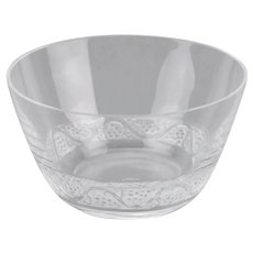 Lalique Crystal Bowl Phalsbourg Pattern France