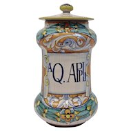 Deruta Pottery Apothecary Urn Jar Multi Colors On White Italy