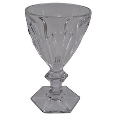 Baccarat Crystal Goblet Harcourt Pattern 6 3/8 Inches Tall