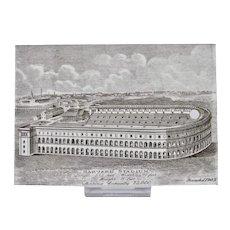 Wedgwood Calendar Tile 1907 Black White Harvard Stadium Jones McDuffee & Stratton Boston