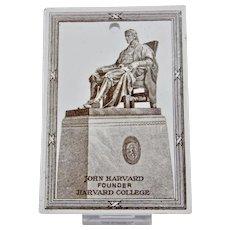 Wedgwood Calendar Tile 1921 Brown White John Harvard Founder Of Harvard College Jones McDuffee & Stratton Boston