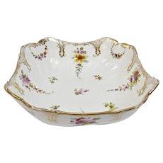 Richard Klemm Dresden Bowl Fine Hand Painted Floral Motif And Gilding