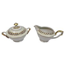 La Princesse Creamer And Sugar Set Franconia Krautheim Selb Bavaria Germany c.1940's