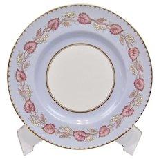 Royal Worcester White Grapes Pink Vine Aqua Blue Fine Gilding Luncheon Plate Z2171