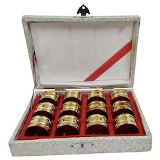 Brass Napkin Rings Set Of 12 In Presentation Box