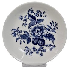 Royal Worcester Blue Sprays Small Coaster Or Ashtray Floral Motif Bone China England