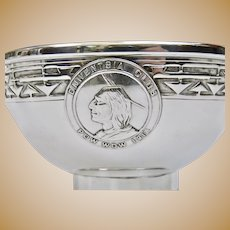 Arts And Crafts Jarvie Shop Chicago Onwentsia Club Pow Wow 1915 Sterling Bowl