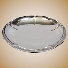 Arts And Crafts Kalo Shop Chicago Hand Forged Hammered Sterling Footed Bowl