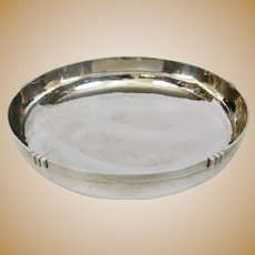 Arts And Crafts Kalo Shop Chicago Hand Forged Sterling Footed Modernist Bowl Large