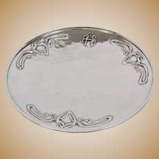 Arts And Crafts Art Silver Shop Chicago Sterling Footed Plate Fine Details
