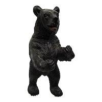 Carved Wood Large Standing Bear Black Forest German Tyrolean Fine Details