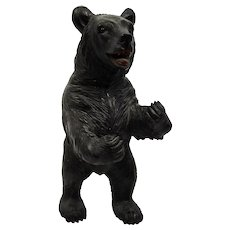 Carved Wood Large Standing Bear Black Forest German Tyrolean Fine Details
