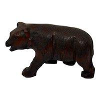 Carved Wood Bear Black Forest German Tyrolean Fine Details