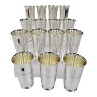 Tiffany And Company Sterling Silver Tumblers Or Mint Julep Cups Set Of 15