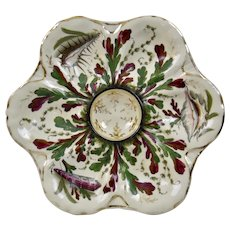 Oyster Plate Shell And Sea Life Motif Gilded 19th Century c.1880's
