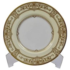Mintons England 9 Inch Luncheon Plate Cream Colored Gilded Marshall Field Company