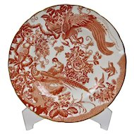 Red Aves Dinner Plate Gilded Details Royal Crown Derby England