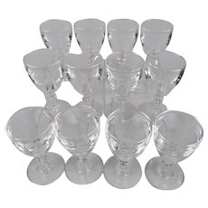 Steuben Glass Port Wine Goblets Set Of Twelve Pattern Number 6268
