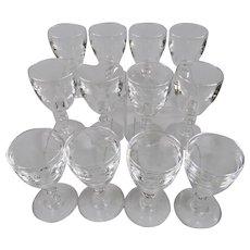Steuben Glass Port Wine Goblets Set Of Twelve Pattern Number 6268