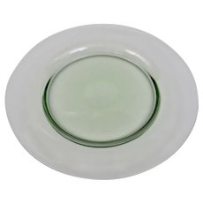 Steuben Glass Carder Era Light Green Dessert Salad Plate 8.25 Inches Diameter