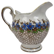 Cream Pitcher Tuscan Bone China England Floral Transfer Image And Hand Painted And Gilded Details